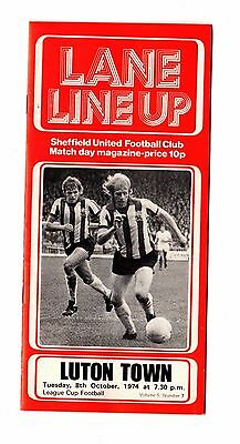 1974-1975 Sheffield United v Luton Town League Cup