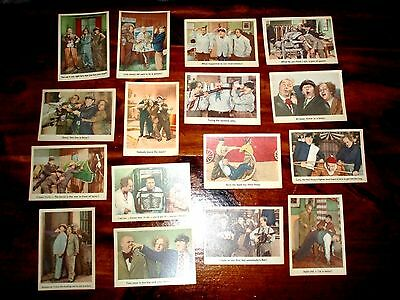 Three Stooges Trading Cards 1959 Sold in Lot of 16