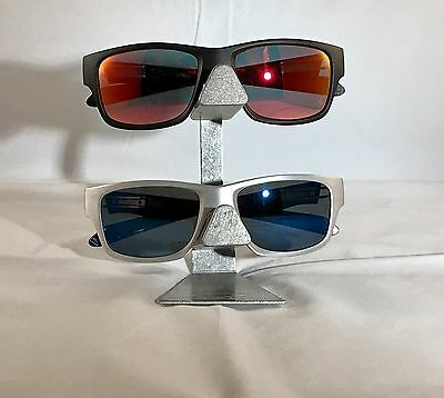 Oakley Two Tier Vintage X-metal Display Stand Aluminum