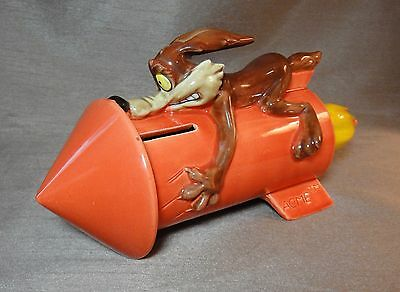 RARE Warner Brothers Inc. Wile E. Coyote Acme Rocket Bank - 1989