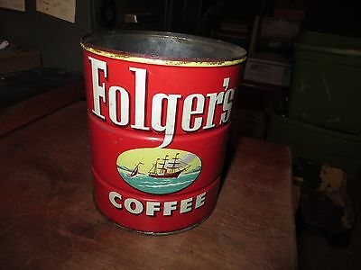 Vintage Folgers Coffee Can #2