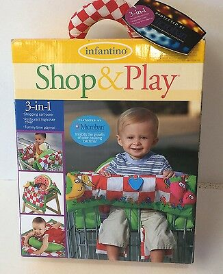 Infantino Shop & Play 3-in-1 Shopping Cart Cover Tummy Time Highchair Cover NIB
