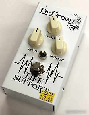 """Dr. Green""""Life Support"""" Compressor/Sustainer Pedal (USED) FAST SHIP"""