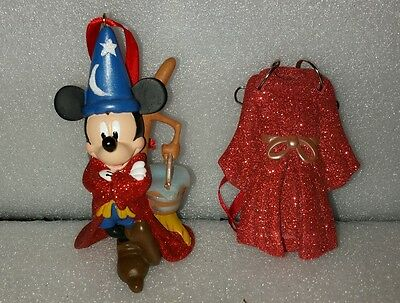 Disney Mickey Mouse Fantasia Figure Metal Hanger Ornament Set Of 2