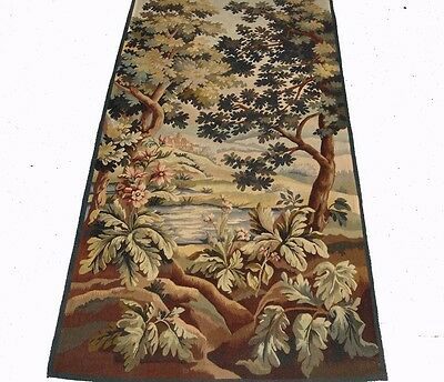 A Beautiful Antique Tapestry with Castle, Lake and Trees, 4 of 4