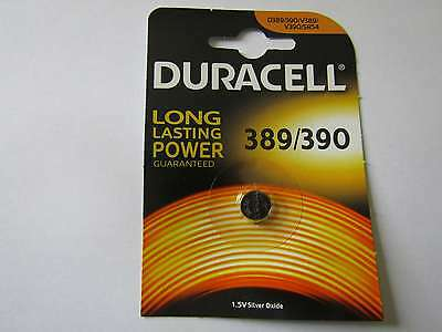 1x 389/390 silver oxyde watch battery 1,55V SR1130W Duracell e AR1716