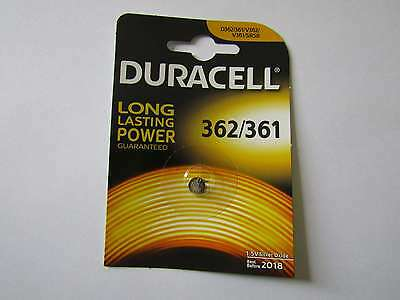 1x 362/361 silver oxyde watch battery 1,55V SR721SW Duracell e AR1455
