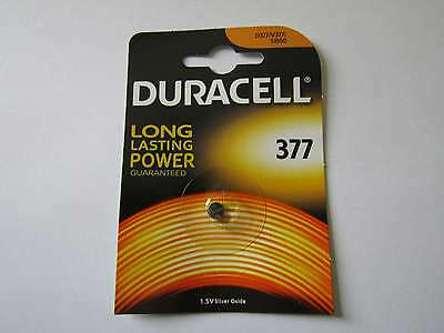 10x 377 silver oxyde watch battery 1,55V SR626SW Duracell e AR1719