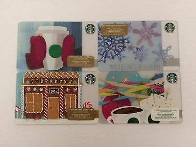 Starbucks Canada Collectible Gift Card - Lot of 4 Winter Theme - New - No Value