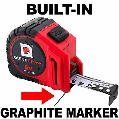 5M Metric QUICKDRAW PRO Self Marking Tape Measure - 1st Measuring Tape with a in