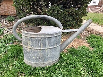 Vintage German SCHNEIDERKANNE Long Spout Galvanized Metal Watering Water Can