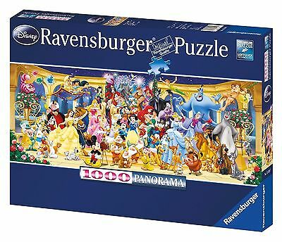 Genuine Ravensburger Disney Characters Panorama  Jigsaw Puzzle 1000 Pieces NEW!!