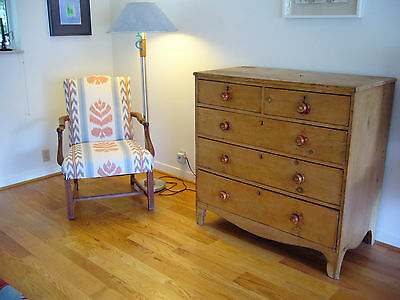 18Th Century Pine Chest Of Drawers, Probably  English