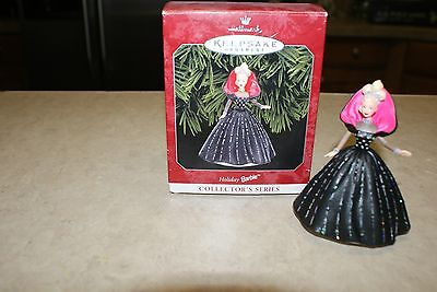 Hallmark 1998 Christmas Ornament - #6 In The Holiday Barbie Series - Black Gown