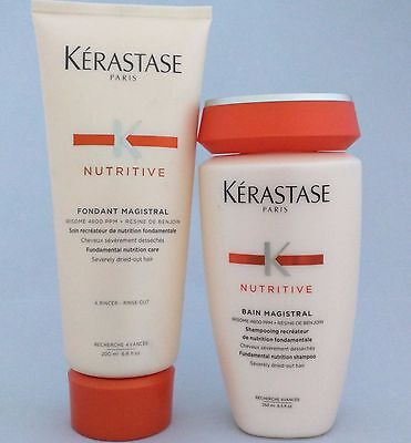 KERASTASE Magistral Shampoo + Fundamental Nutrition Care Duo Severely Dry Hair
