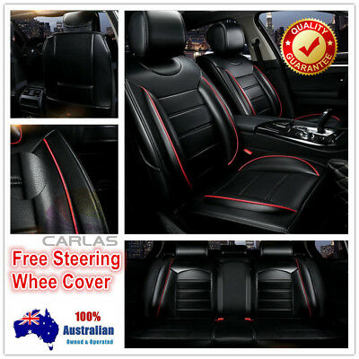 Padded Comfort PU Leather Car Seat Covers Holden Calais Colorado Cruze Captiva