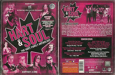 Coffret 3 Dvd - Catch Wwe - Hart & Soul The Family Anthology / Neuf Emballe -New