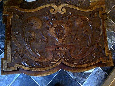 Stunning Large Carved Wooden Wall Hanging Letter /paper Rack 1925 12 Inches X 18