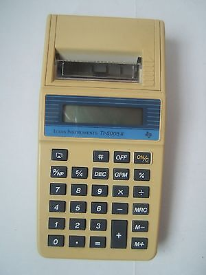 Vintage Texas Instruments TI-5005 II Printing Calculator Tested Works