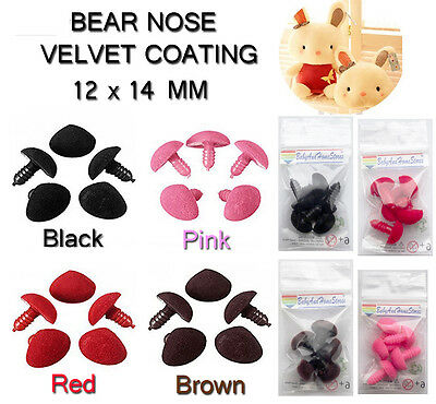 5 Plastic Safety Nose For Teddy Bear Doll Soft Toy Making Supplies 12 x 14 mm