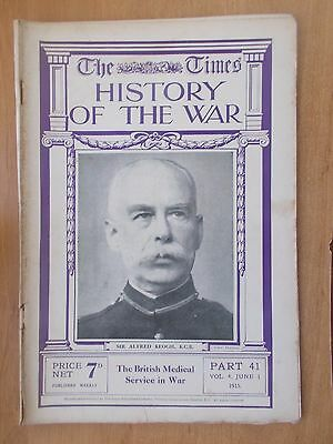 Times History Of The War Wwi Magazine # 41 June 1915 British Medical Service
