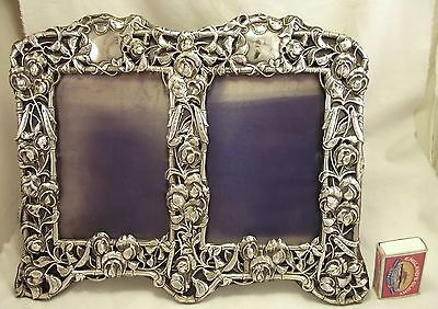 Extra Large Double Solid Silver Photograph Frame - London 1903 - William Comyns