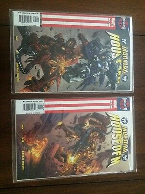 MARVEL IRONMAN HOUSE OF M  # 2 & 3 boarded/sleeve COMIC BOOKS