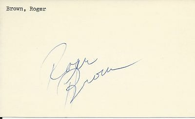 Roger Brown Indiana Pacers ABA Basketball Scandal HOF signed 3x5 Tough Autograph