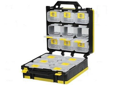 Set 15 Storage Containers In Cabinet Ideal Crafts Garage Shed Small Parts Draw