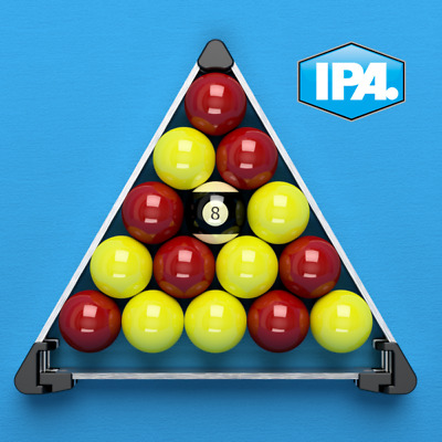 Pool table ball racker triangle for perfect set up unique design.