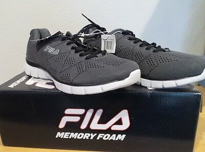 NEW Men's Fila Memory Refractive Memory Foam GREY Running Athletic Shoes size 11