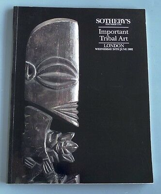SOTHEBY'S CATALOGUE - IMPORTANT TRIBAL ART - London 24th June 1992