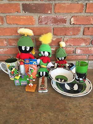 Marvin the Martian & K-9 Collector Lot Plush, Watch, Keychain, Mug, Plate, Bowl+