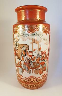STUNNING ANTIQUE JAPANESE 19th CENTURY MEIJI PERIOD KUTANI VASE SIGNED