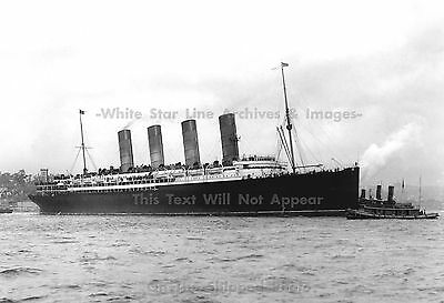 """Photo: 5"""" x 7"""": Marvelous: The SS Lusitania In NY 1907, View 3"""