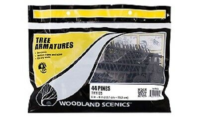 Woodland Scenics TR1125 -Pine Tree Armatures from 4 in - 6 in 44Pk