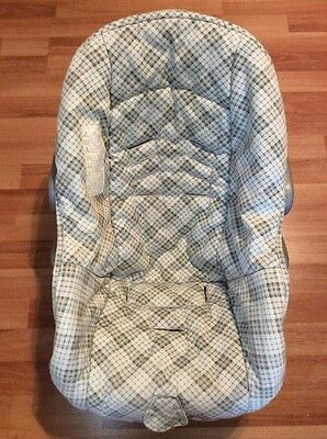 Safety 1st Eddie Bauer Baby Car Seat Cover Cushion Replacement Green Gray White