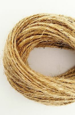 2Ply-2mm 1m-1000m Natural Brown Soft Jute Twine Sisal String Rustic Shabby Cord