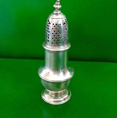 Samuel Wood 1736 Georgian Antique English Sterling Silver Caster Shaker