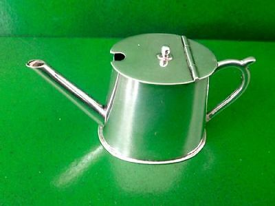 Victorian Novelty Antique English Silver Mustard Pot Saunders Shepherd-1894