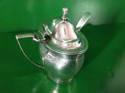 Crispin Fuller 1802 Georgian Antique English Sterling Silver Mustard Pot