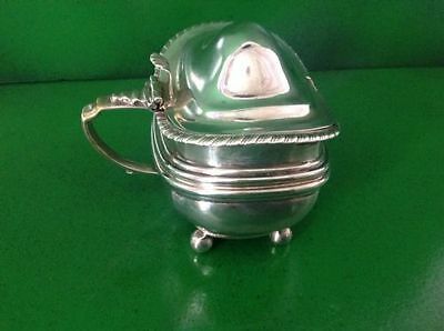 William Bateman 1820 Georgian Antique English Sterling Silver Mustard Pot