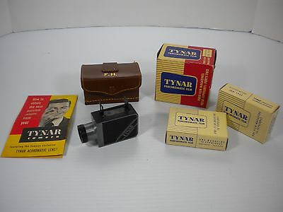 Tynar Subminiature 16mm Film Camera With 2 NOS Film Cassettes & Case Ships Free!