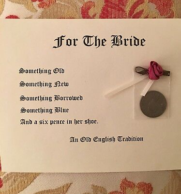 Six Pence for the Bride  A Great Tradition FREE SHIPPING