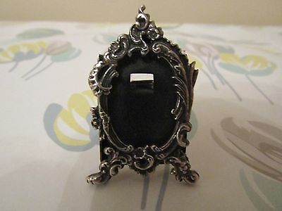 Miniature Art Nouveau Style Standing Photo Frame Solid Sterling Silver 925