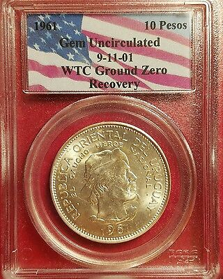 1967 Uruguay 10 Pesos - Recovered from WTC Ground Zero - Gem Uncirculated