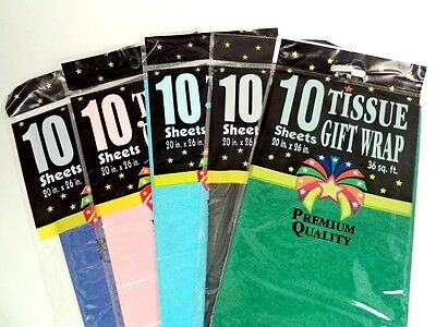"""Premium Quality Tissue Paper Gift Wrap 10 Sheets 20"""" X 26""""  Arts & Crafts"""