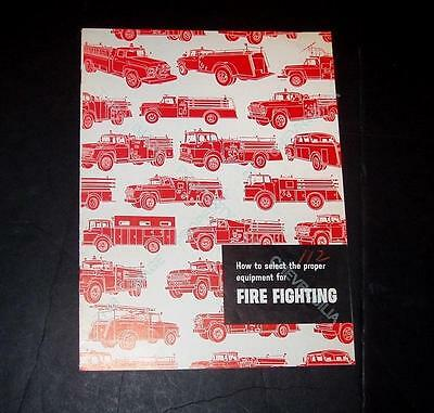 1959 Ford FIRE TRUCK Catalog Brochure with Panel, Ambulance. Chief's Car