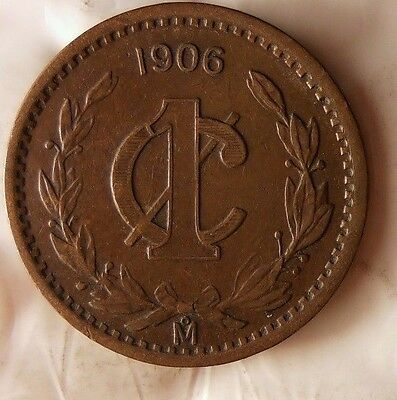 1906 MEXICO CENTAVO - Excellent Hard to Find Vintage Coin - Lot #S3