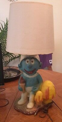 Smurfs Vintage Lamp Heavy One Of A Kind